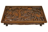 20th Century Vietnamese Hand Carved Asian Coffee Low Table With with dimensions 3000 X 3000