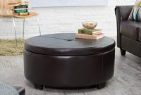 36 Top Brown Leather Ottoman Coffee Tables in size 2400 X 2400