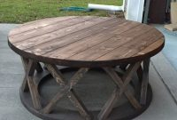 42 Round Rustic X Brace Coffee Tables In 2019 Rs Custom Design pertaining to sizing 1500 X 1500