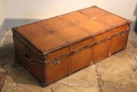 A Very Large Bespoke Leather Trunk Made Exclusively Brownrigg for measurements 1280 X 854