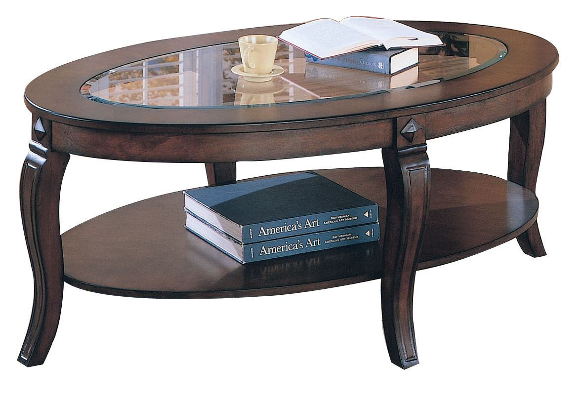 Acme Riley Oval Glass Top Coffee Table In Walnut 00450 pertaining to sizing 1180 X 800