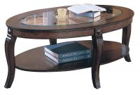 Acme Riley Oval Glass Top Coffee Table In Walnut 00450 within sizing 1180 X 800