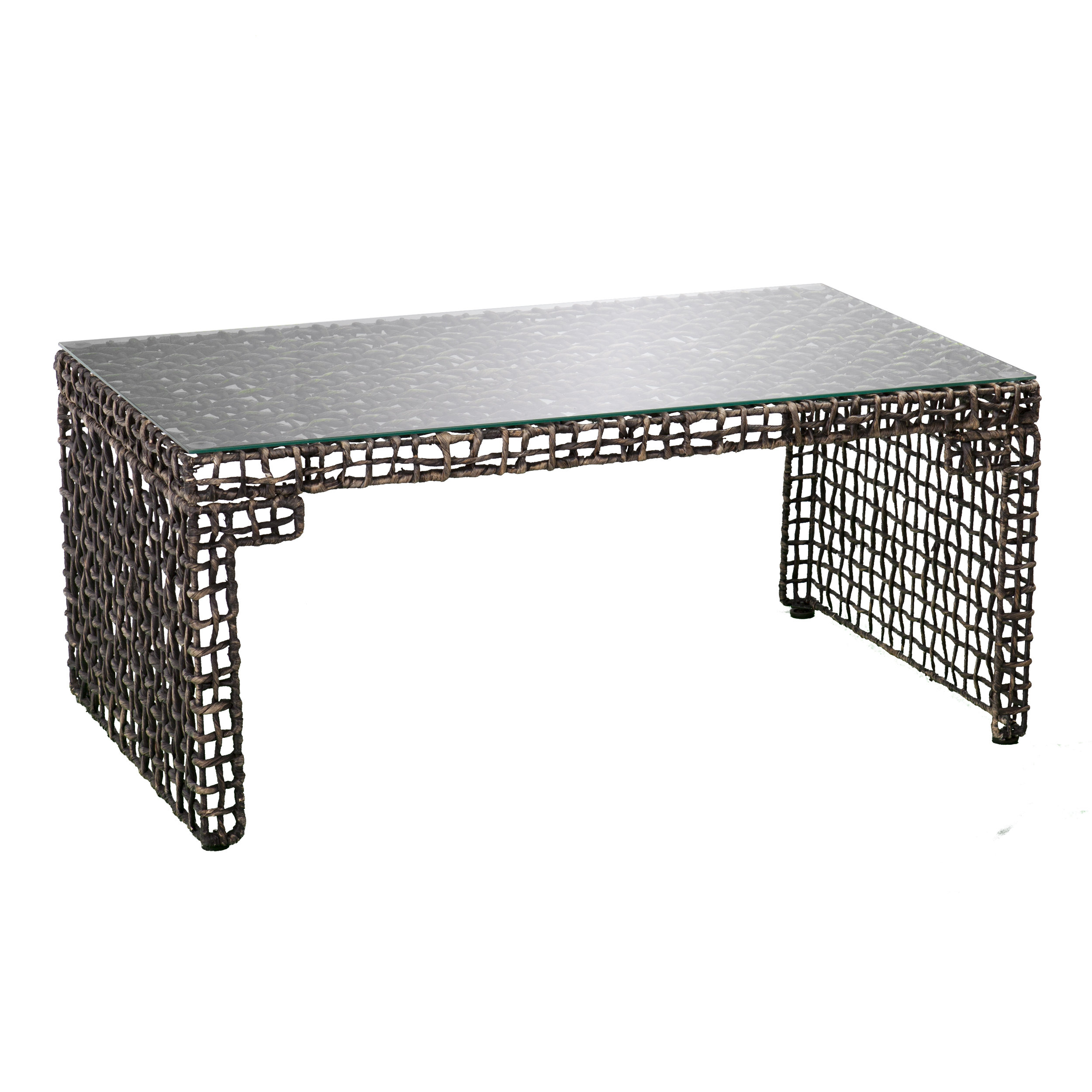 Akersville Woven Coffee Table intended for measurements 2500 X 2500