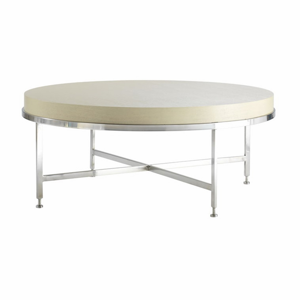 Allan Copley Designs Galleria Round Cocktail Table With White On within proportions 1000 X 1000