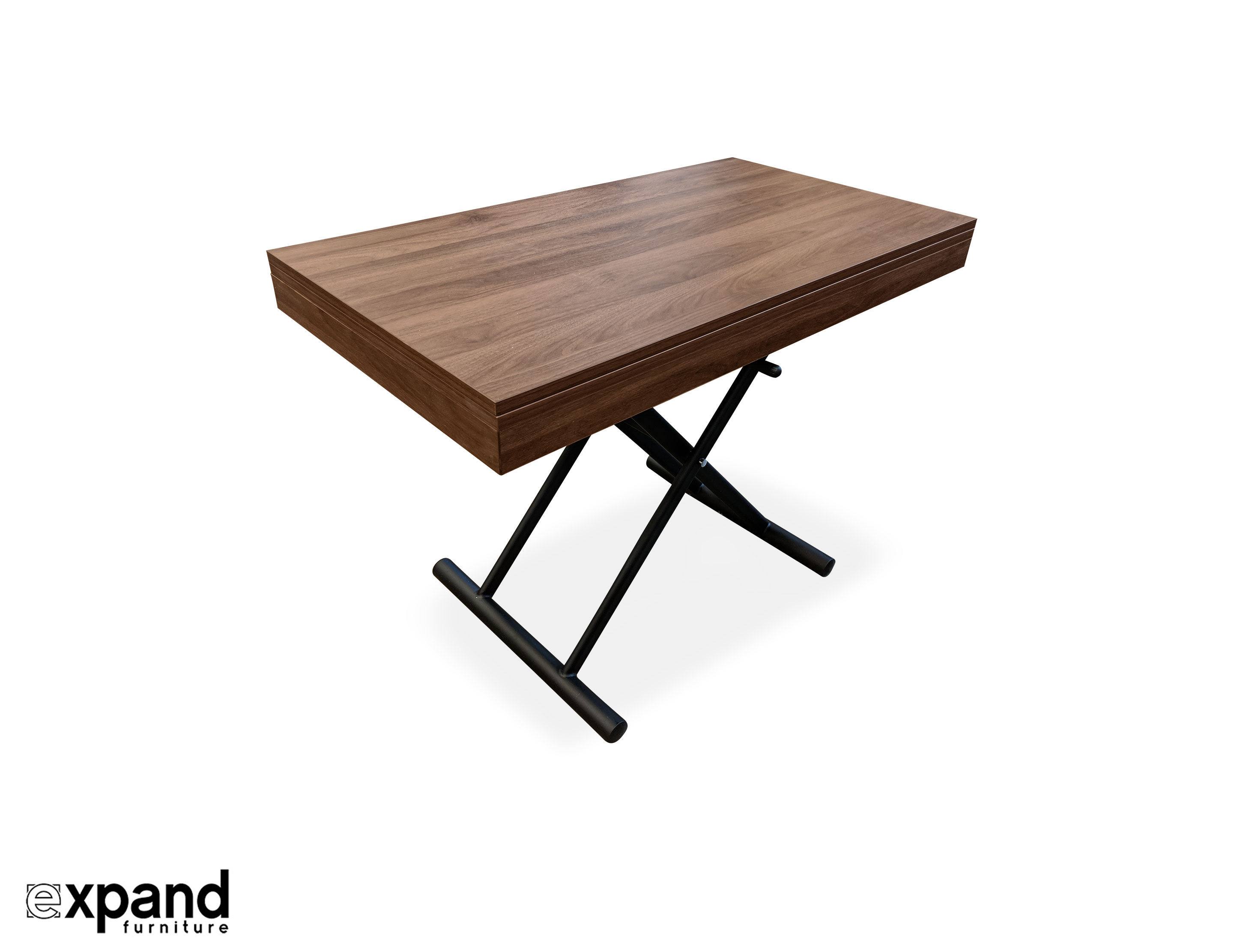 Alzare Small Transforming Coffee Table Expand Furniture Folding intended for sizing 2888 X 2222