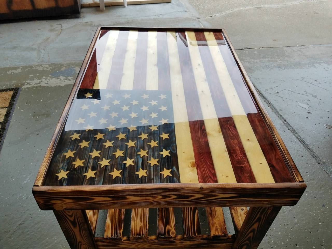 American Flag Coffee Table In 2019 Projects To Try American Flag within sizing 1280 X 960