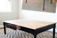 Ana White Turned Leg Coffee Table With Apron Drawer Diy Projects throughout proportions 1536 X 2047
