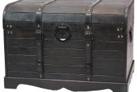 Antique Style Black Wooden Steamer Trunk Coffee Table Products In inside size 976 X 976