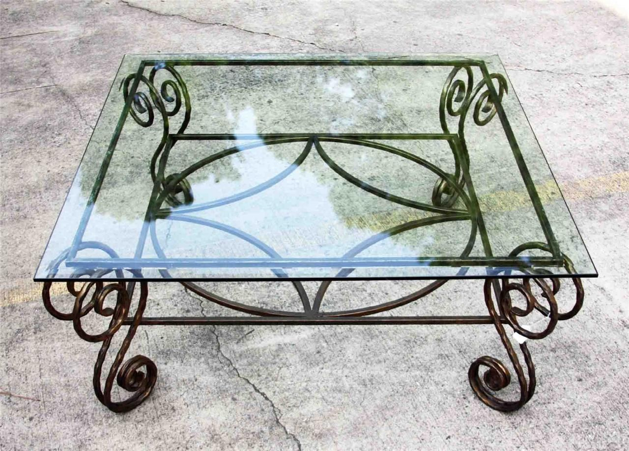 Antique Wrought Iron Table Bases Antique Copper Wrought Iron Base within measurements 1280 X 918