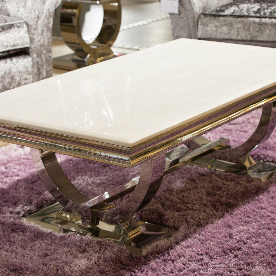 Arianna Cream Marble Coffee Table inside sizing 900 X 900