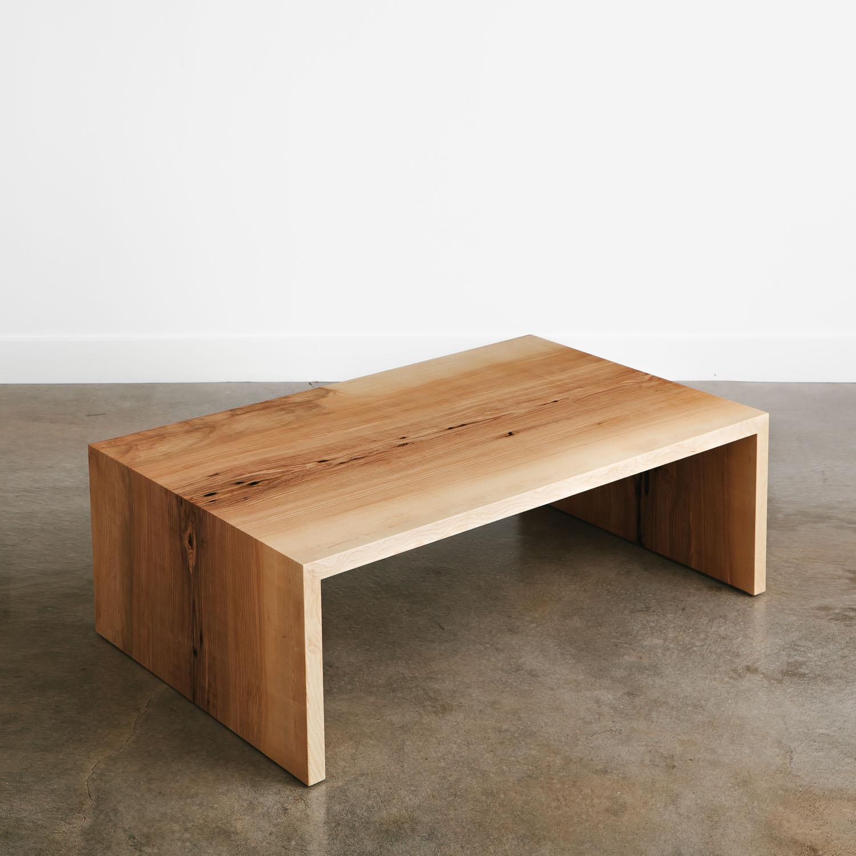 Ash Coffee Table Elko Hardwoods Modern Live Edge Furniture inside proportions 1500 X 1500