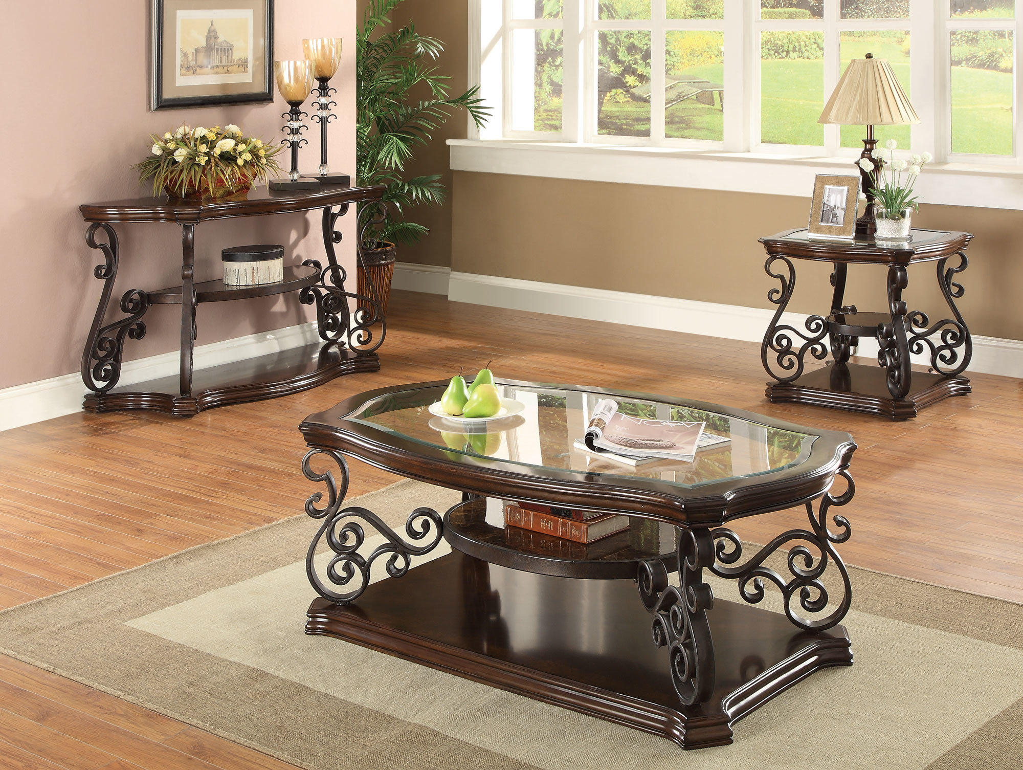 Astoria Grand Bearup 3 Piece Coffee Table Set Reviews Wayfair in sizing 2000 X 1505