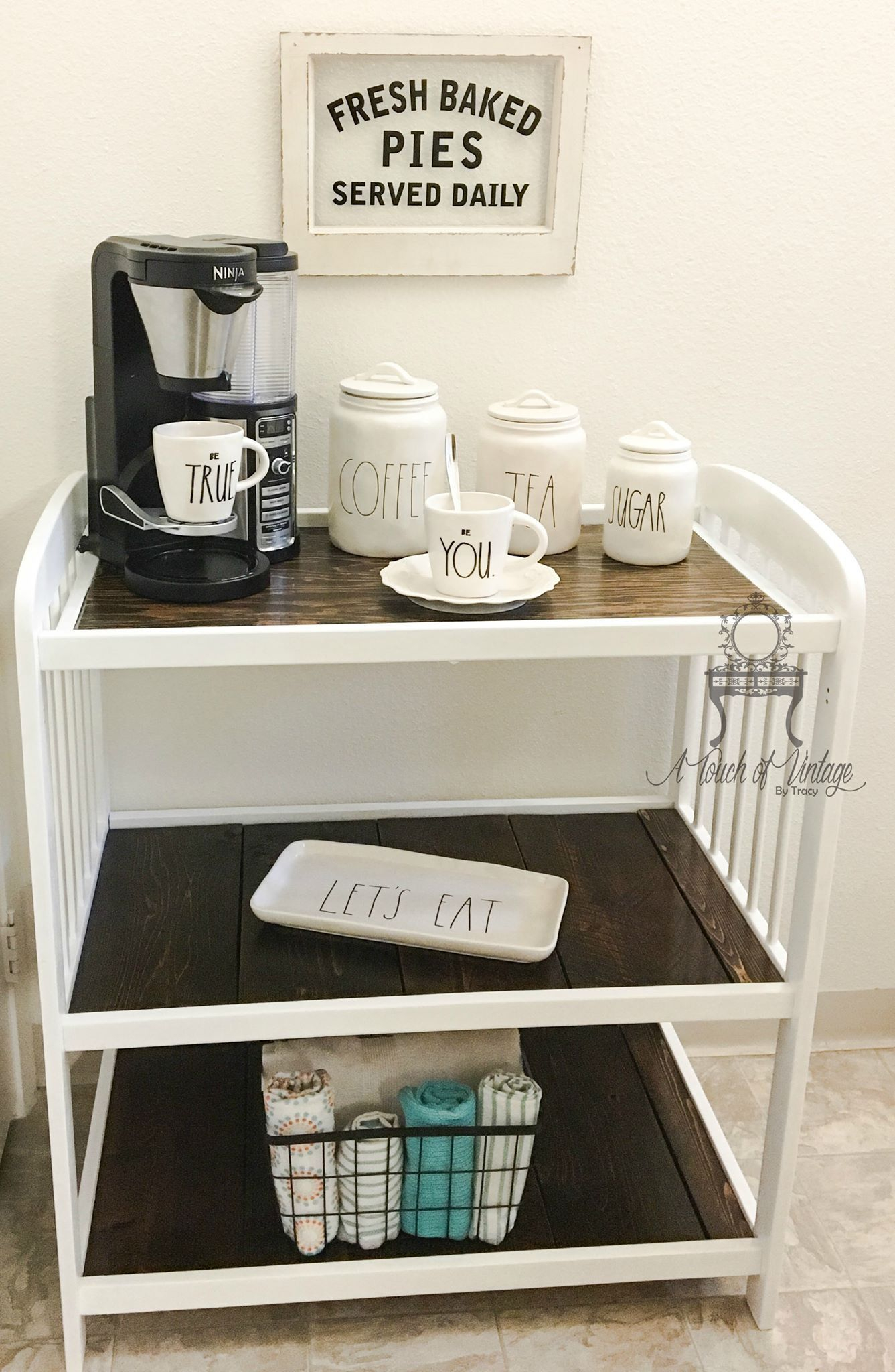 Ba Changing Table Repurposed To A Coffee Bar Perfect Way To throughout sizing 1337 X 2048
