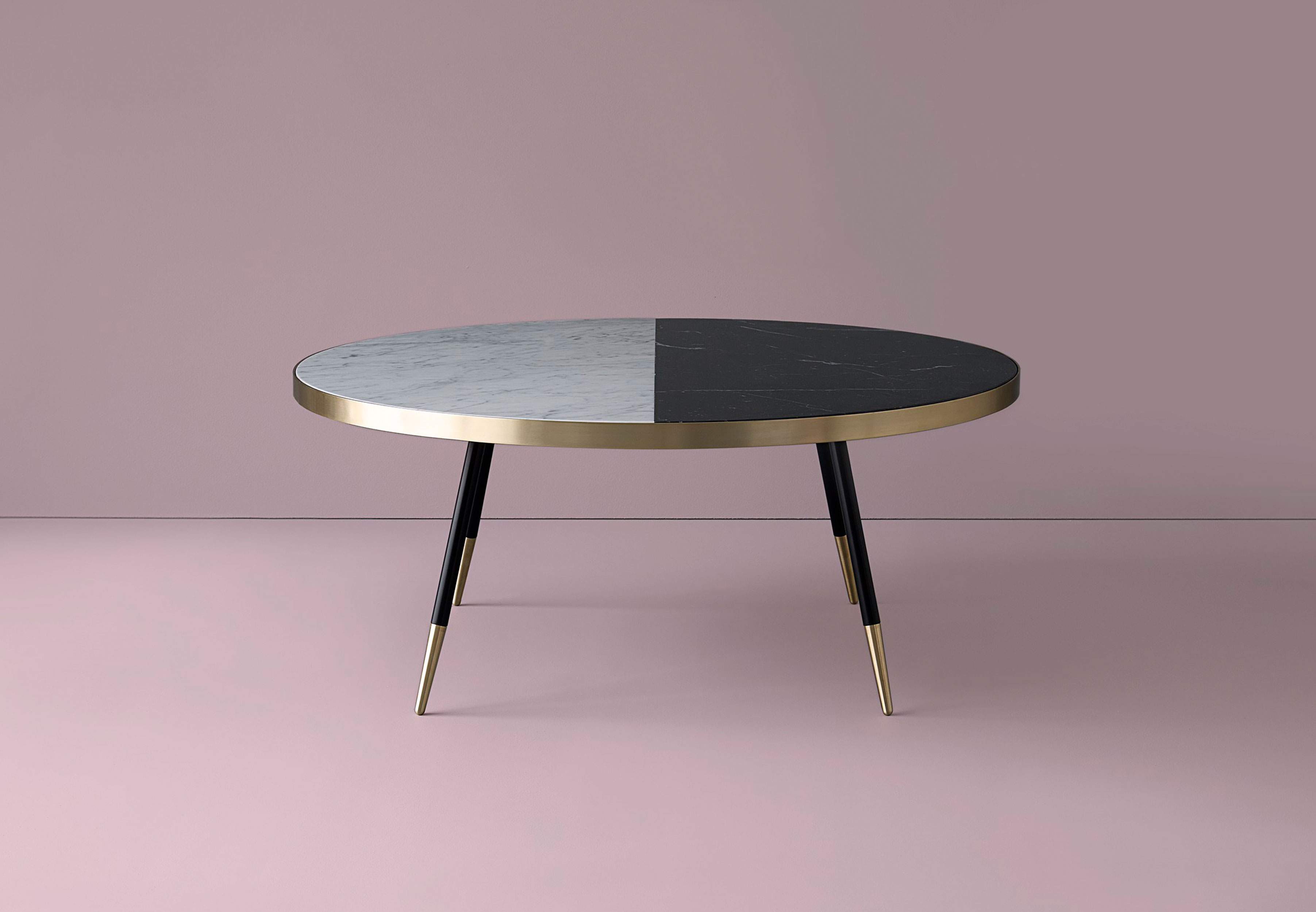 Band Marble Two Tone Coffee Table Bethan Gray Design in size 3606 X 2500
