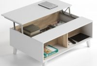 Bari Storage Coffee Table Soft White Gloss With Oak Effect throughout dimensions 1312 X 1531