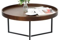 Barrie Walnut Round Tray Table Furniture Home Dcor Fortytwo within proportions 2000 X 1865