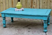 Bayside Blue Coffee Table Table Vintage Shab Chic Distressed regarding proportions 1500 X 1500