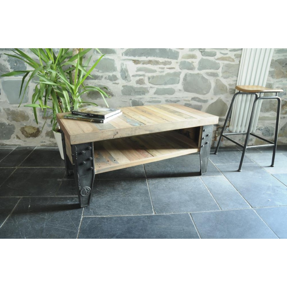 Beautiful New York Loft Reclaimed Wood Coffee Tables Storage Shelf inside dimensions 1000 X 1000