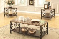 Beige Metal Coffee Table Set Steal A Sofa Furniture Outlet Los with measurements 1414 X 1090