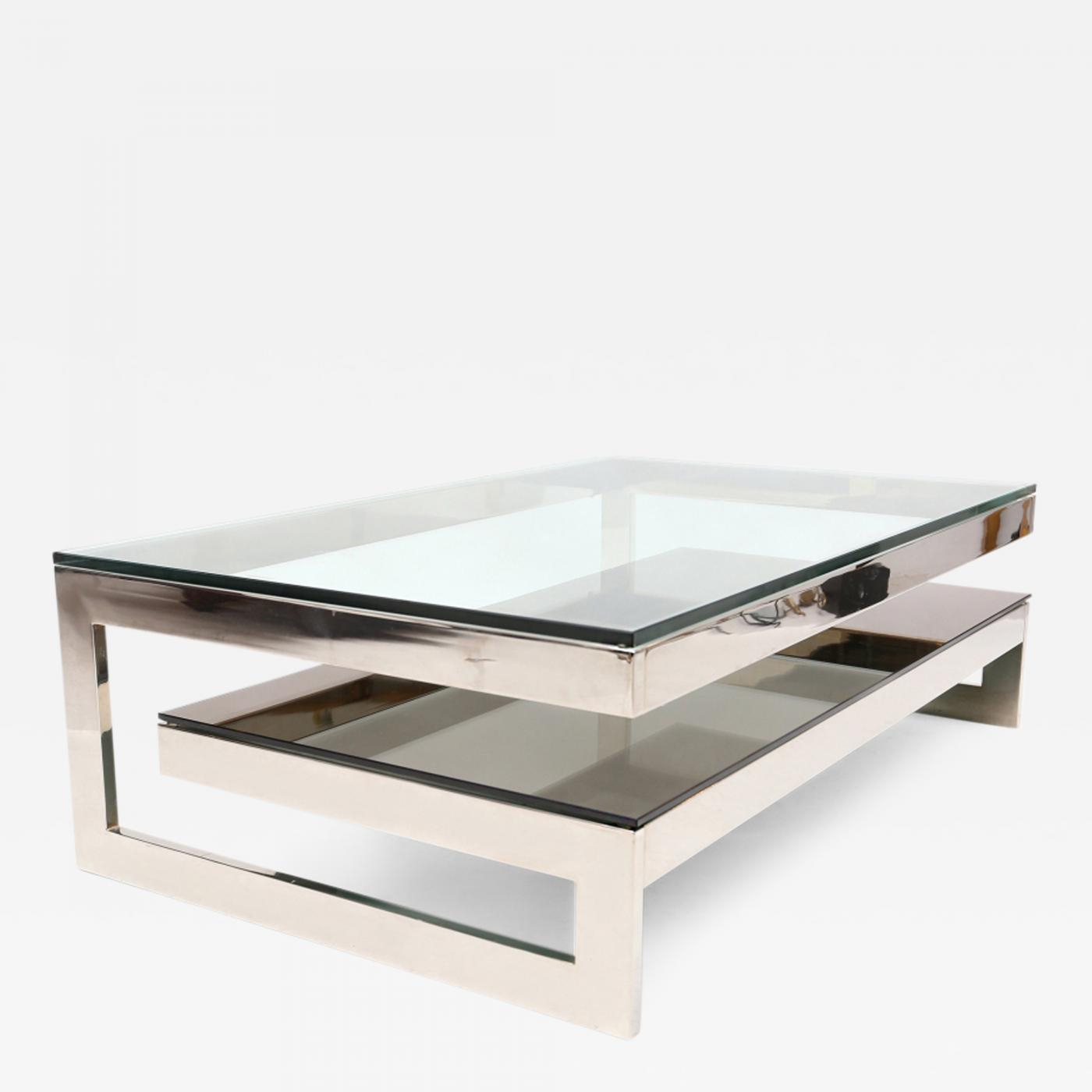 Belgo Chrome Chrome G Coffee Table in proportions 1400 X 1400