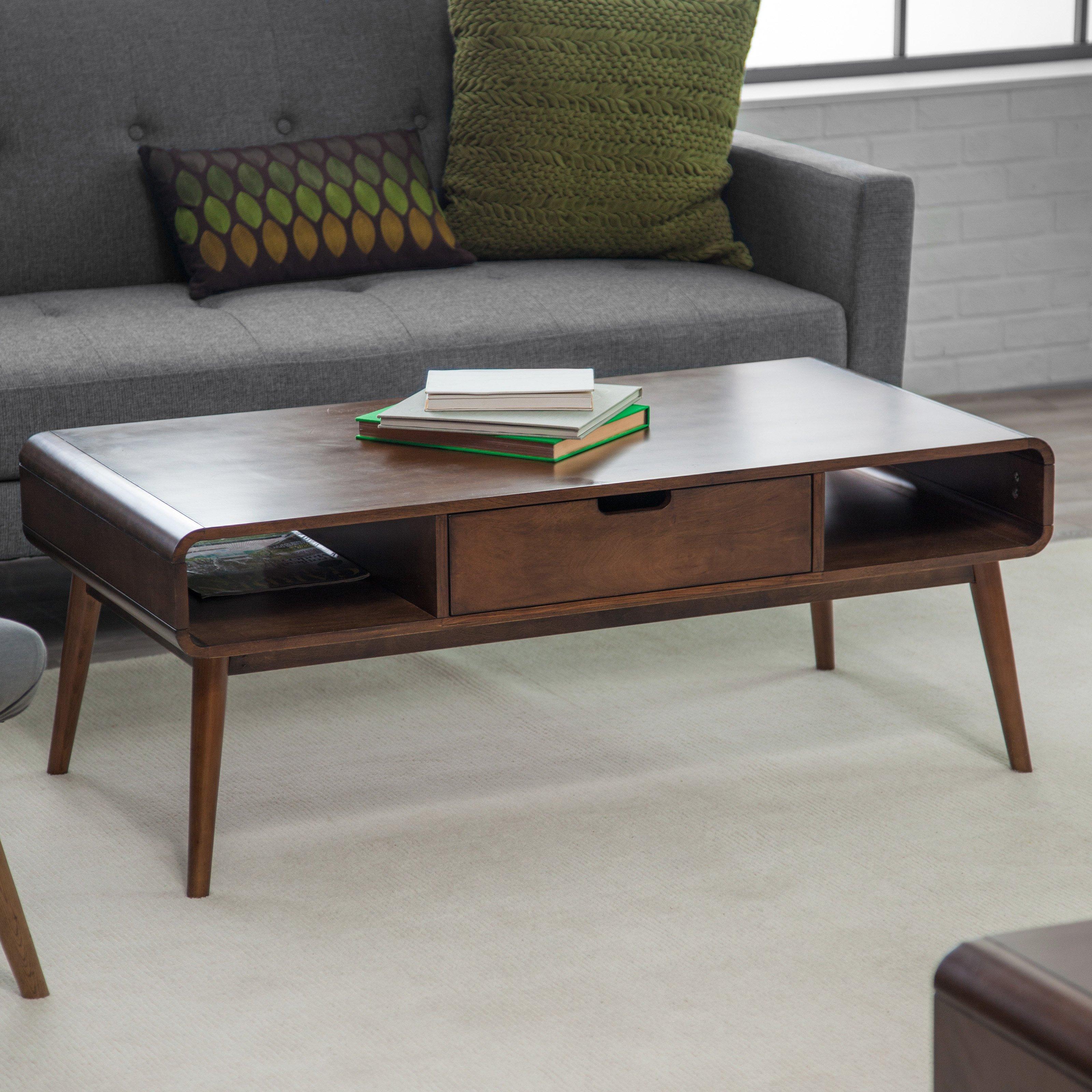 Belham Living Carter Mid Century Modern Coffee Table Hayneedle regarding dimensions 3200 X 3200