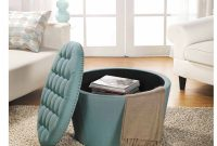 Better Homes And Gardens Round Tufted Storage Ottoman With Nailheads within size 2000 X 2000