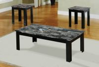 Black Granite Coffee Table Set Furniture Faux Marble Coffee for size 1200 X 800