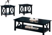 Black Wood Coffee Table Set Steal A Sofa Furniture Outlet Los with measurements 1414 X 1018