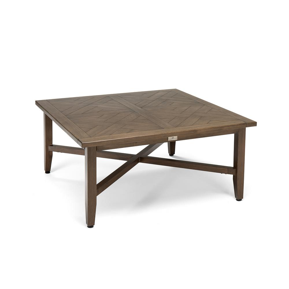 Blue Oak Bahamas Square Aluminum Outdoor Chat Table Hbaht42 The inside proportions 1000 X 1000