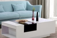 Bn Two Tone White And Black Glass Coffee Table Top Center With Side regarding size 1600 X 1600