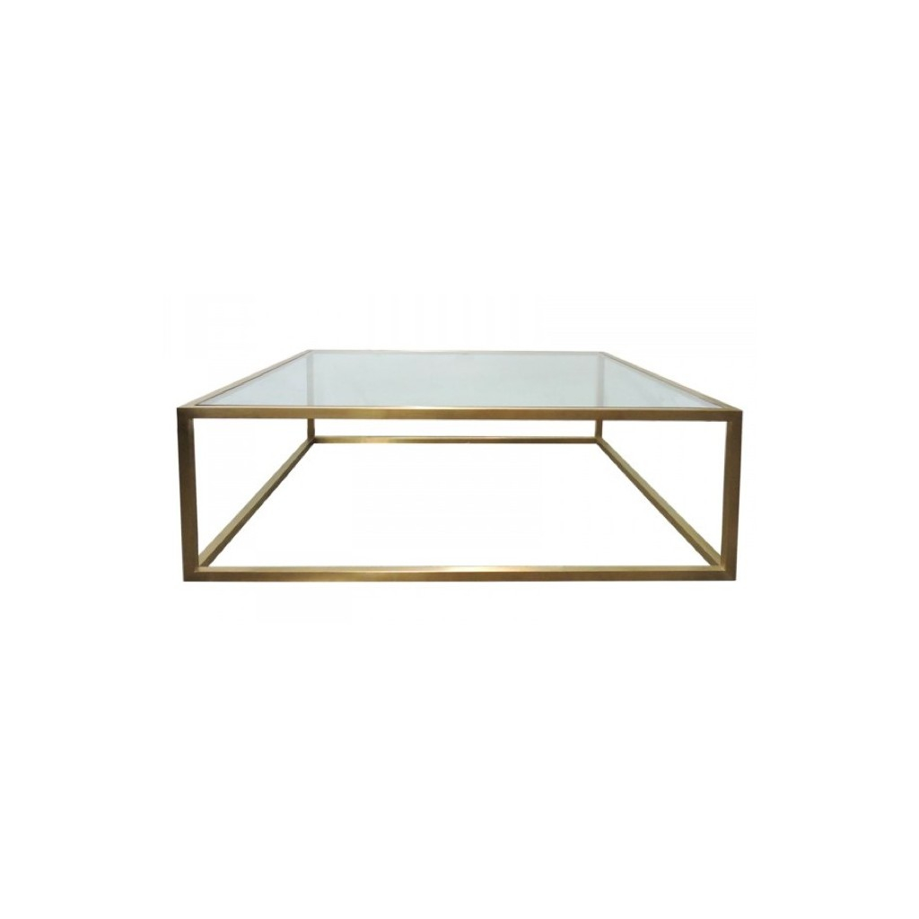 Bogart Square Brass Coffee Table Coffee Tables Tables Ido throughout sizing 1024 X 1024