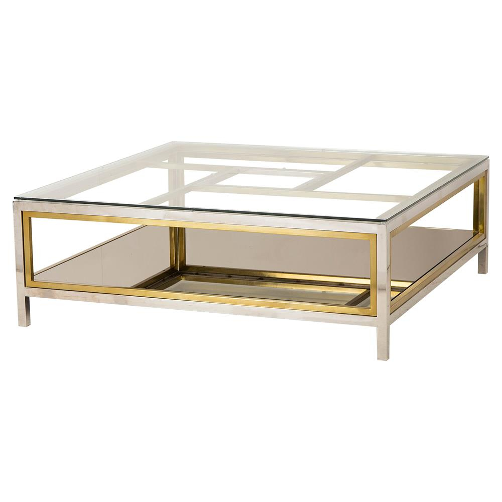 Boyd Windmill Regency Glass Silver Gold Coffee Table Kathy Kuo Home for dimensions 1000 X 1000
