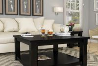 Brimson Contemporary Style Solid Wood 2 Tier Square Coffee Table within proportions 1200 X 1200