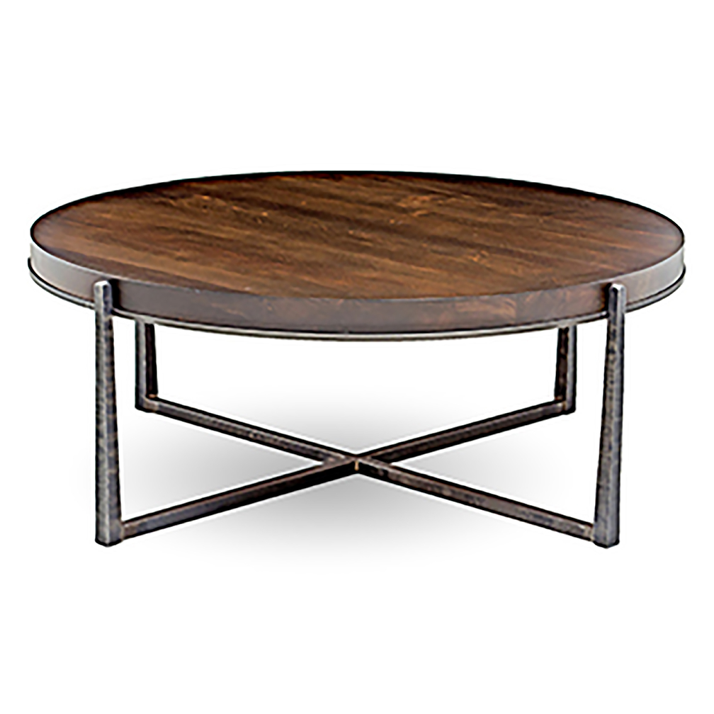 Brycen Custom 42 Round Coffee Table Luxe Home Company regarding proportions 1008 X 1008