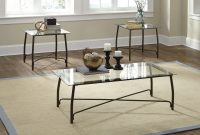 Burmesque 3 Pc Glass Coffee And End Table Set Occasional Tables for sizing 3488 X 2400