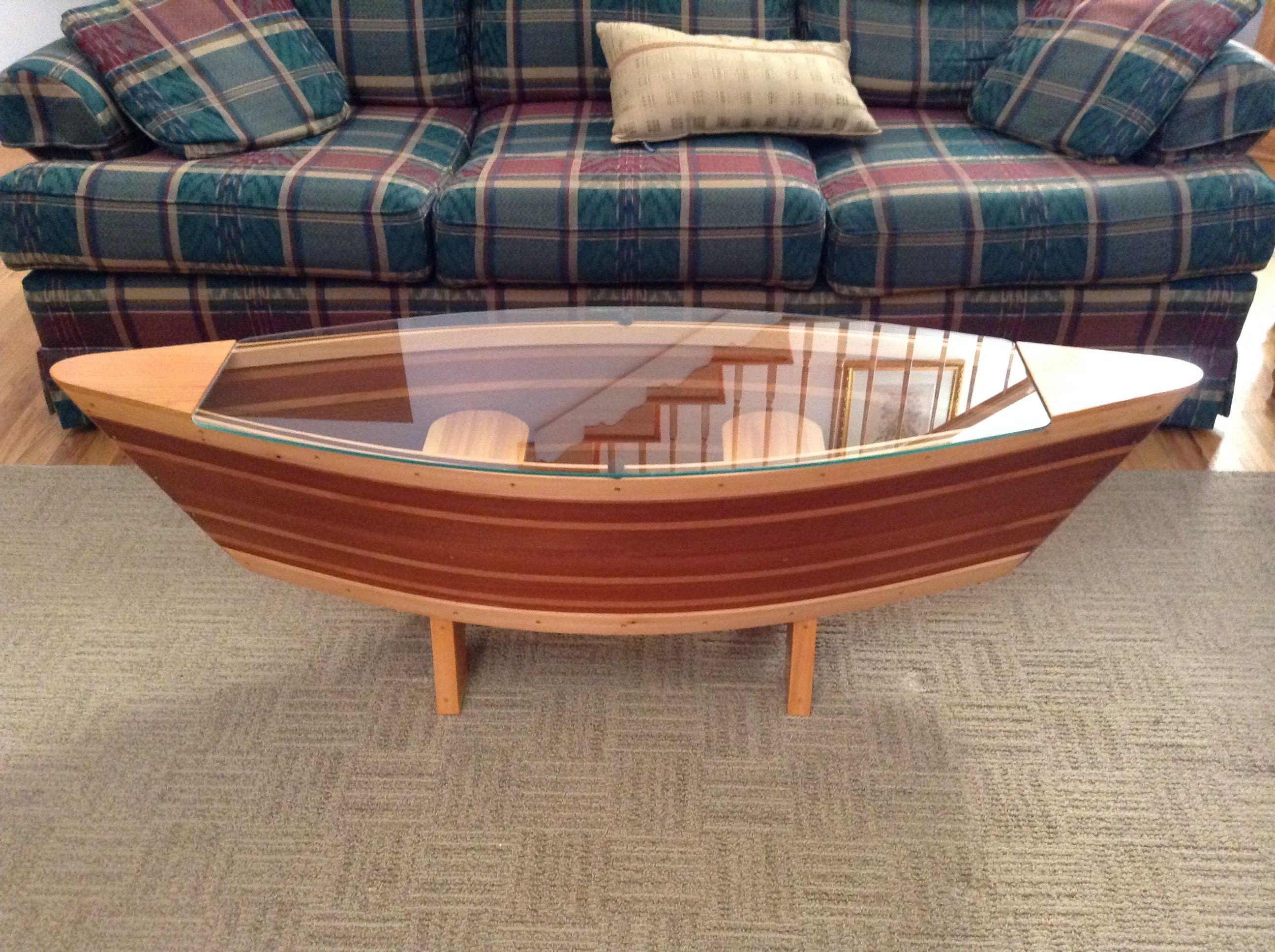 Canoe Coffee Table Boat Shelf 5ft Canoe Shaped Coffee Sofa Table regarding size 2592 X 1936