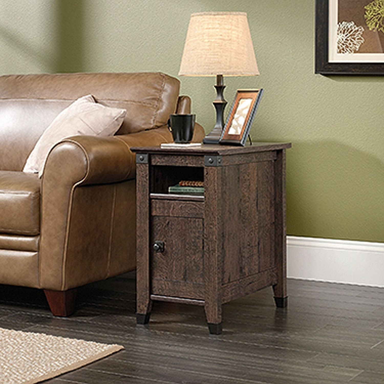 Carson Forge Side Table Coffee Oak D 420422 Sauder Woodworking in sizing 1500 X 1500
