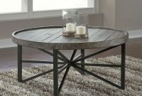 Cazentine Grayish Brownblack Round Cocktail Table for proportions 2614 X 2091