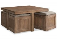 Champagne Cube Coffee Table With 4 Storage Ottomans Created For pertaining to dimensions 1320 X 1616