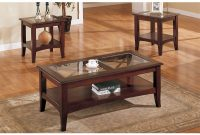 Charlton Home Holte Wooden 3 Piece Coffee Table Set With Glass Top within measurements 1000 X 1000
