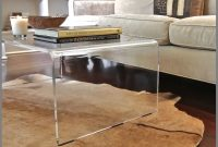 Charming Lucite Coffee Table Fossil Brewing Design Acrylic Coffee throughout sizing 1042 X 992