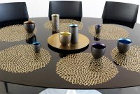 Chilewich Table Placemats Runners Dahlia Brass Floral in measurements 1200 X 900