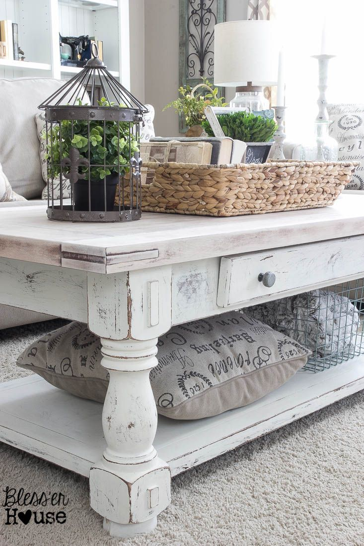 Chippy White Lime Finished Coffee Table Inspiring Diy Decor inside sizing 733 X 1100