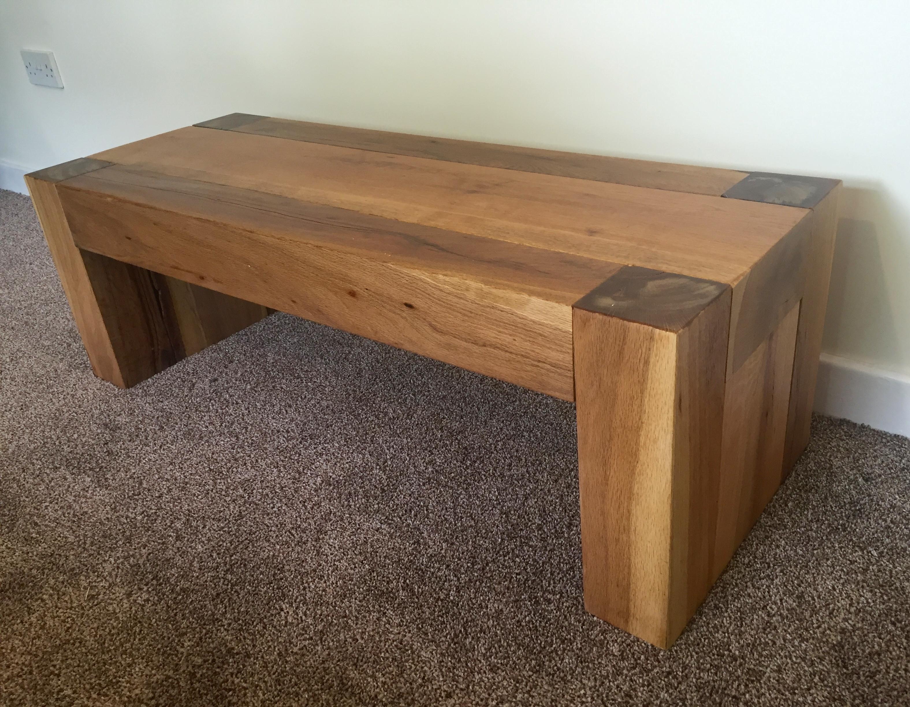 Chunky Coffee Table Ruf Wood Designs regarding proportions 3151 X 2448