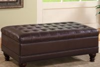 Coaster Ottomans Traditional Oversized Faux Leather Storage Ottoman inside measurements 1154 X 1102