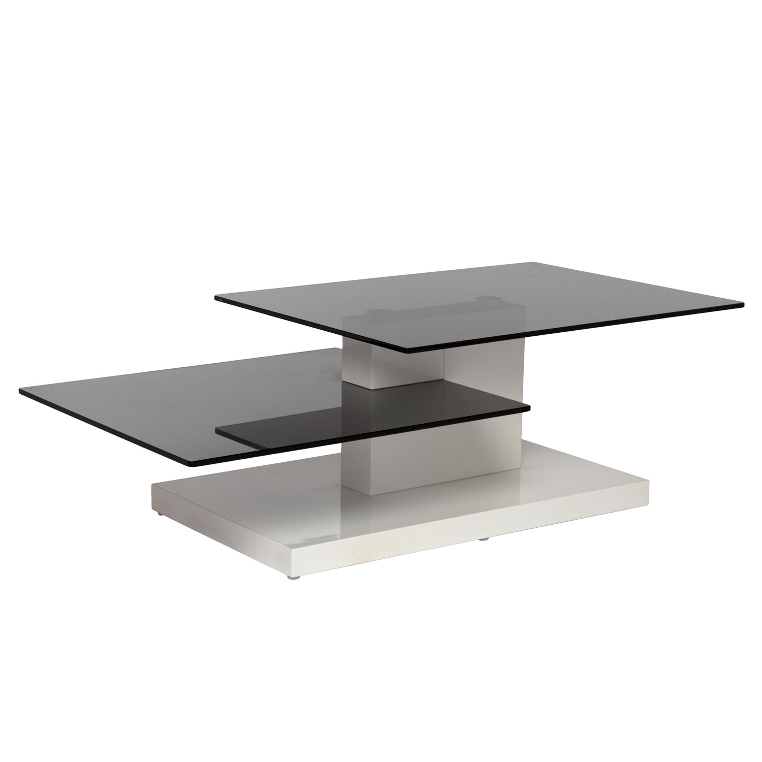 Coffee Table White With Smoke Glass with regard to sizing 1500 X 1500