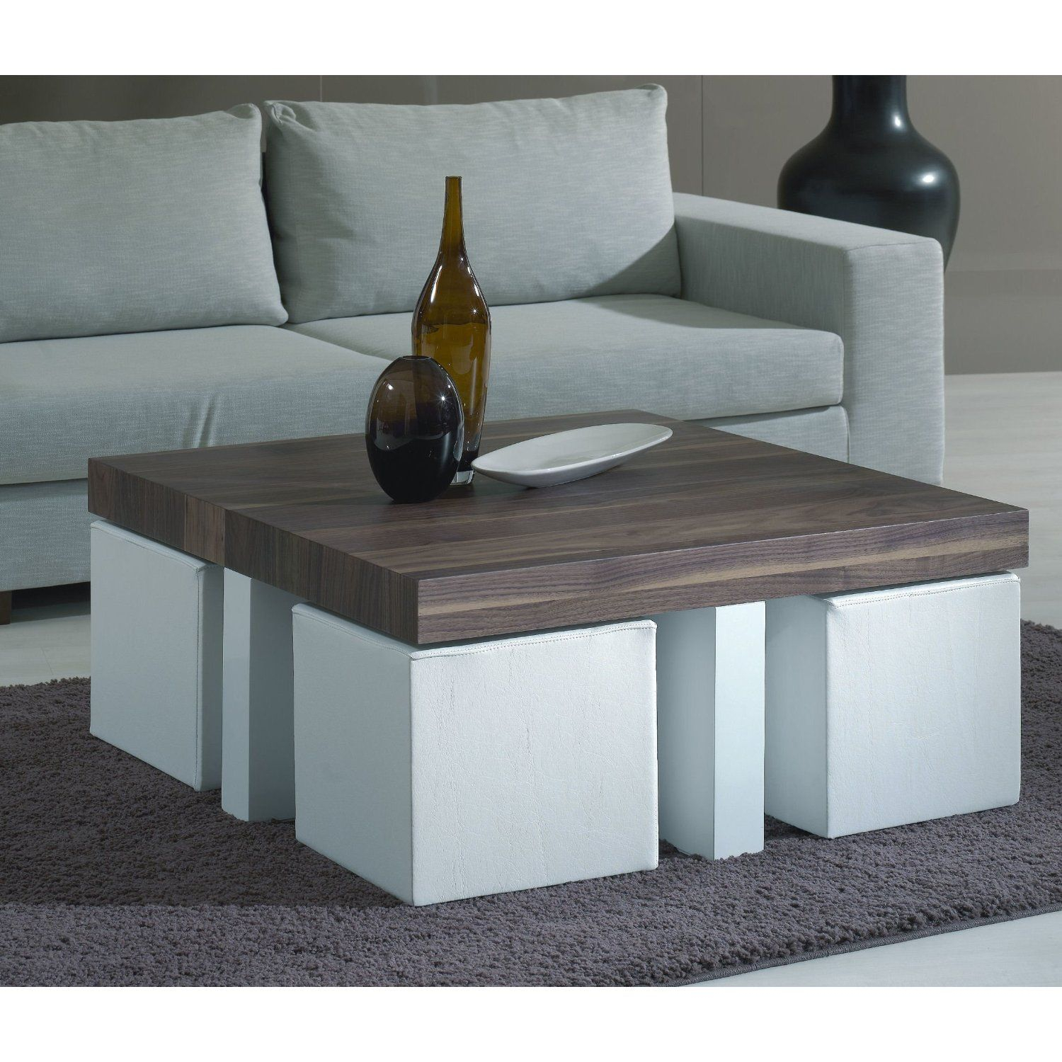 Coffee Table With Stools Love This Idea For Stools Tucked Under A within size 1500 X 1500