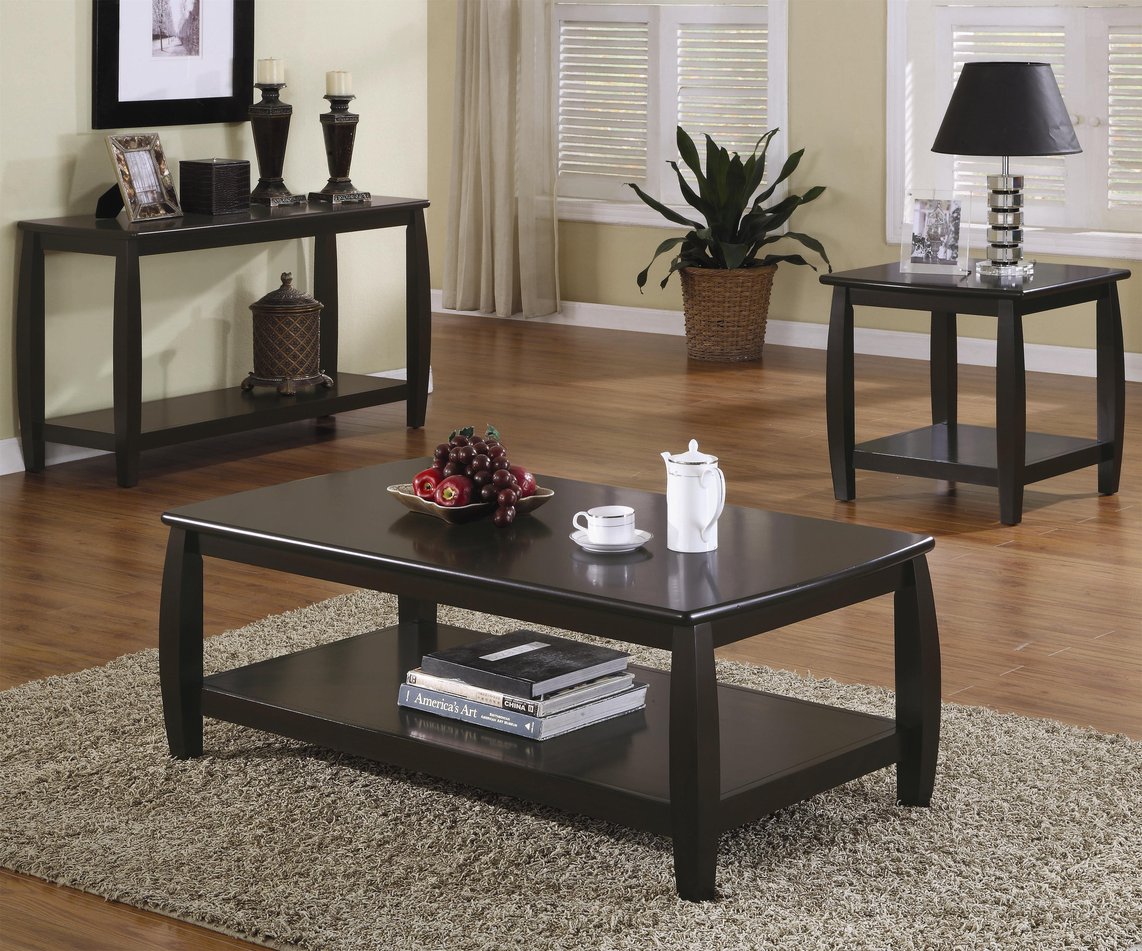 Coffee Tables Contemporary Cocktail Table Co 701078 intended for size 4000 X 3334