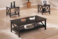 Coffee Tables Dark Brown Wood Coffee Table F 3069 in size 1200 X 800