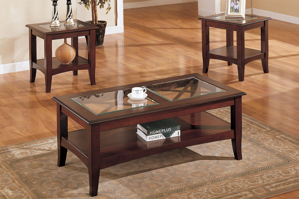 Coffee Tables Glass Top And Wood Coffee Table F 3075 inside size 1200 X 800